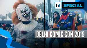 Cosplayers at the Delhi Comic Con 2019 [Video]