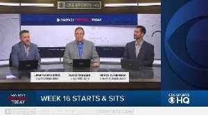 Fantasy Football Today Start & Sit Week 16 [Video]
