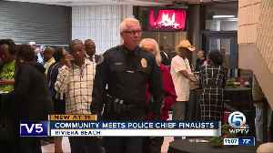 Community meets police chief finalists [Video]