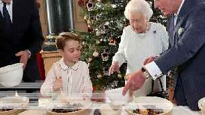 News video: Four generations of the royal family bake Christmas puddings