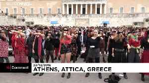 """""""Las Tesis"""" performance in front of Athens parliament [Video]"""