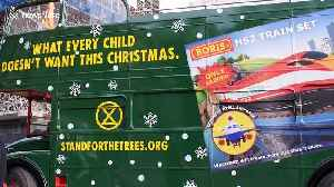 'Springwatch' presenter Chris Packham dons Santa suit and joins Extinction Rebellion for anti-HS2 protest [Video]