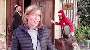 Bansky unveils ''Scar of Bethlehem'' Nativity display [Video]