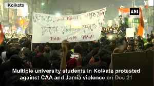 University students in Kolkata protest against CAA Jamia violence [Video]