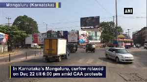 CAA protest Curfew relaxed in Mangaluru till 6.00pm [Video]