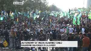 Protests continue in Pakistan in support of Kashmir [Video]