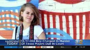 News video: 13-Year-Old Boy Charged In Killing Of Tessa Majors Due In Court