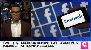 Facebook and Twitter Remove a Network of Fake Accounts Used for Pro-Trump Messages [Video]