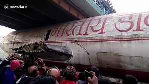 News video: Watch an India Post aircraft get stuck under bridge in West Bengal