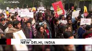 Hundreds march in New Delhi against citizenship law that excludes Muslims [Video]