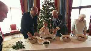 News video: Prince George makes Christmas pudding with Queen Elizabeth
