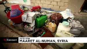 Syria's Maaret al-Numan becomes ghost town as residents flee Idlib bombing [Video]