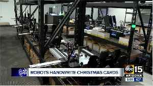 Valley business uses robots to write Christmas cards [Video]