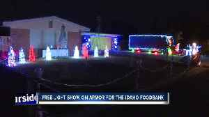 Synchronized Christmas lights show brings in donations for the Idaho Foodbank [Video]
