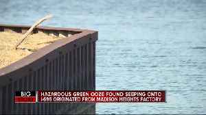 Hazardous green ooze found seeping onto I-696 originated from Madison Heights factory [Video]