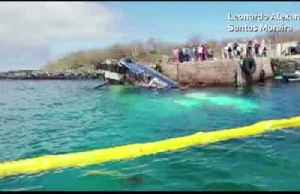 Hundreds of gallons of oil spill in Galapagos Islands [Video]