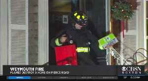 Firefighters Salvage Some Holiday Gifts From Weymouth House Fire [Video]