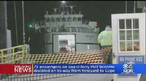 Ferry Disabled On Trip From Martha's Vineyard To Cape Cod [Video]