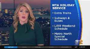 MTA Holiday Schedule In Effect At 12:45 P.M. [Video]