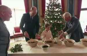 Watch Prince George bake Christmas dessert with the queen [Video]