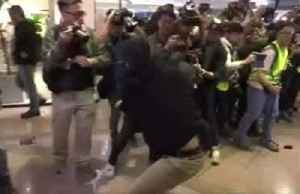 News video: Hong Kong police fire tear gas on Christmas Eve