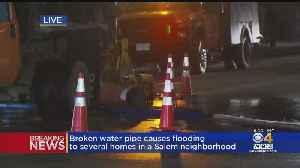 Salem Neighborhood Flooded On Christmas Eve After Pipe Breaks [Video]