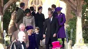 Queen Elizabeth and family attend church- with a few notable absences [Video]