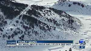 Texas family found after spending a day trapped in San Juan Mountains [Video]