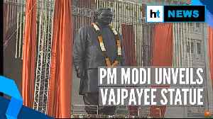 News video: PM Modi unveils Vajpayee statue, lays foundation of Atal Medical University