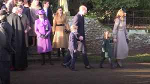 George and Charlotte attend first Christmas Day church service with the Queen [Video]