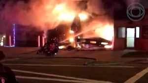 Raw Video: Long Island Firehouse Burns Down [Video]
