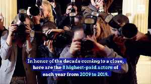 Highest-Paid Actors for Each Year of the Past Decade [Video]