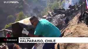 Fire destroys around 150 homes in Valparaiso, Chile [Video]