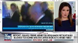 Netanyahu rushed to bomb shelter after rocket attack on Israel [Video]
