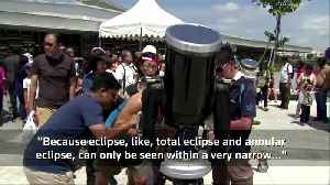 'Ring of Fire' eclipse enthralls skywatchers in Middle East, Asia [Video]