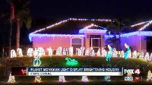 Planet Monkman light display brightening holiday [Video]