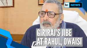 'What Mughals couldn't do...': Giriraj Singh's jibe at Rahul Gandhi, Asaduddin Owaisi [Video]