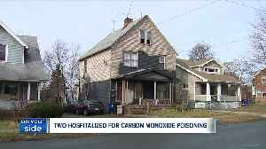 News video: High levels of carbon monoxide send 2 people to the hospital on Christmas