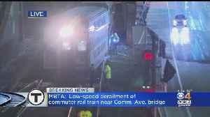 Commuter Rail Train Derails Near Comm. Ave Bridge [Video]