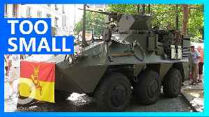 Belgium's upgraded APCs can only be driven by small people [Video]