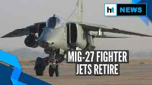 Watch: IAF bids farewell to MiG-27 with water salute at Jodhpur airbase [Video]