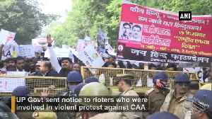 Anti CAA Violence UP GOvt sends notice to rioters seeking recovery for damaging public property [Video]