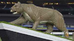 Penn State Nittany Lion Statue Made Completely Out Of Tires [Video]
