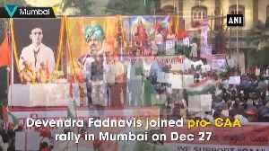 News video: Devendra Fadnavis joins pro CAA rally in Mumbai