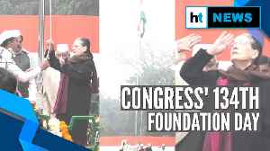 Sonia Gandhi hoists tricolour, kick-starts Cong's foundation day celebrations [Video]