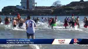 Pete Frates' family leads hundreds in final plunge [Video]