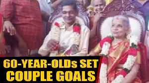 Sexagenarian couple gets wedded after meeting at old age home | OneIndia News [Video]