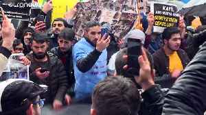 Hundreds of Syrians in Turkey protest outside Russian consulate [Video]