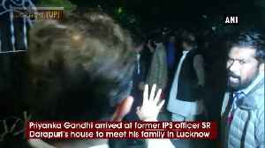 Priyanka Gandhi arrives at former IPS officer's house to meet his family [Video]