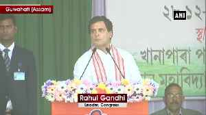 Rahul Gandhi hits out at RSS says Nagpur will not run Assam [Video]